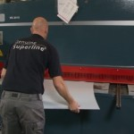 Cutting sheets of certified stainless steel